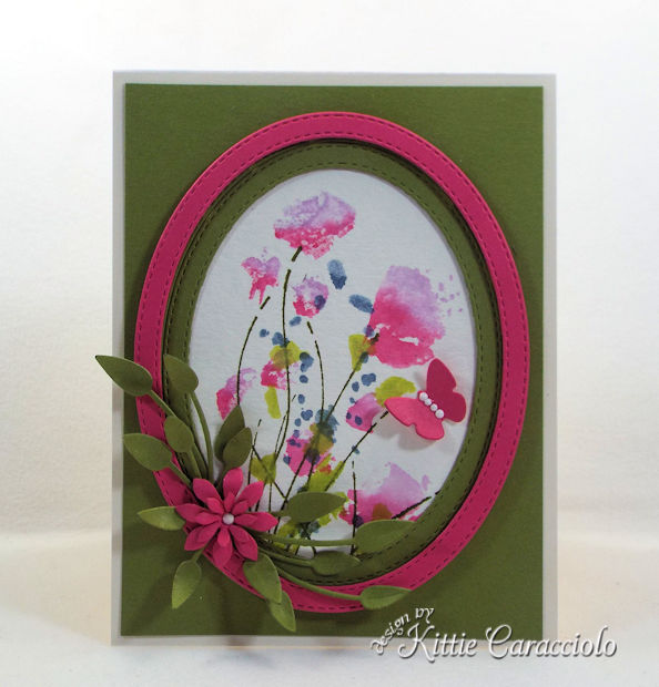 Die cut and watercolor flower cards are easy to make.