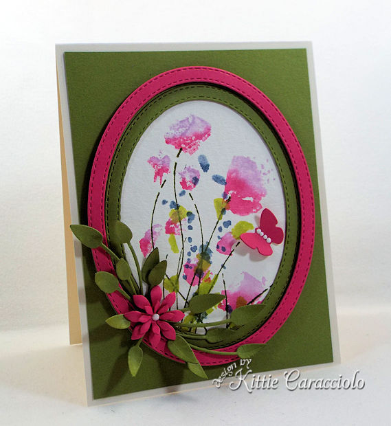 Die cut and watercolor flower cards are fun and easy to make.
