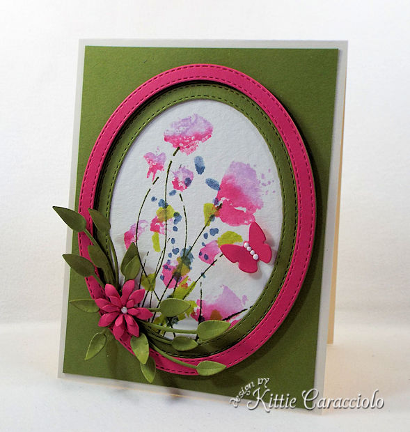 Die cut and watercolor flower cards are so pretty.