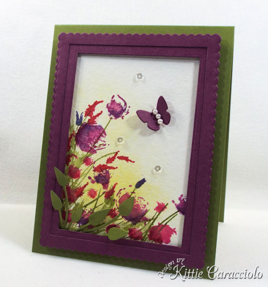 Framed watercolor wildflowers are so pretty to make.
