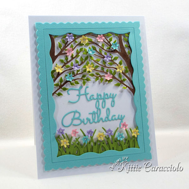 Giving a handmade die cut birthday wishes card is a nice change from giving a purchased card.