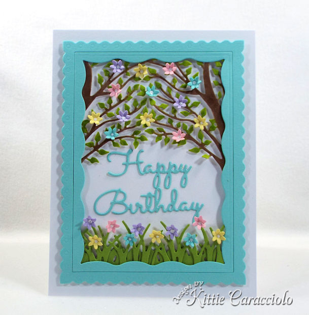 Giving a handmade die cut birthday wishes card is a nice change from giving a store bought card.