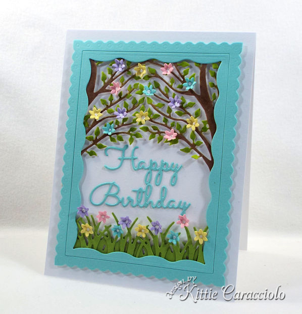 Giving a handmade die cut birthday wishes card is a nice change from giving store bought cards.