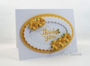 Handmade Die Cut Flowers Card for Ellen Hutson Blog Hop