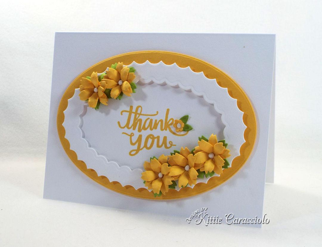 Making a handmade die cut flowers card is so fun and easy.