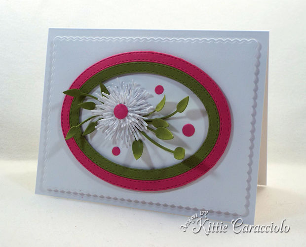 CClean and simple die cut flower cards are easy to make.