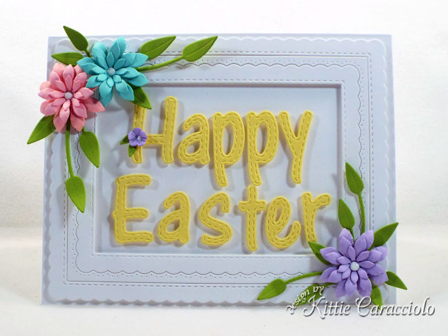 A Happy Easter card with flowers is so fun and easy to make.