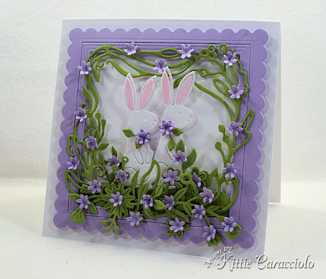 Die cut Easter Bunnies cards are fun and easy to make.