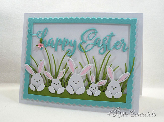 Die cut Easter Bunnies cards are fun to make.