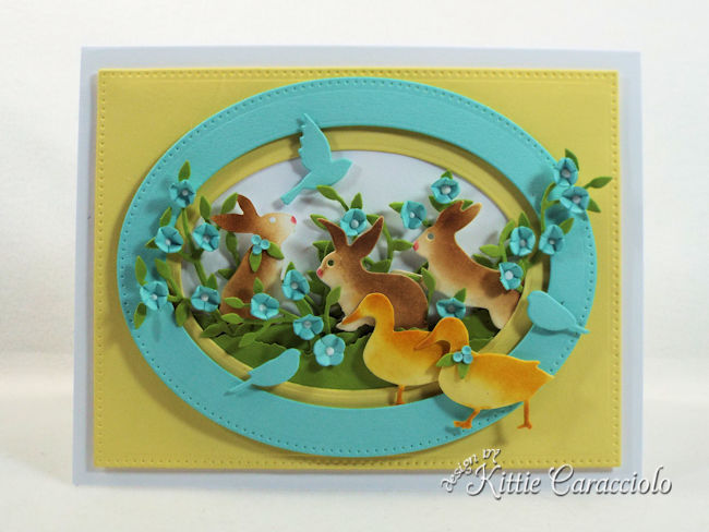 Die cut Easter bunnies, ducks and birds create such a fun spring.