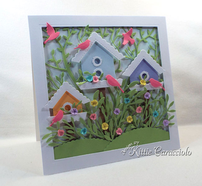 Die cut bird houses are easy and fun to make.