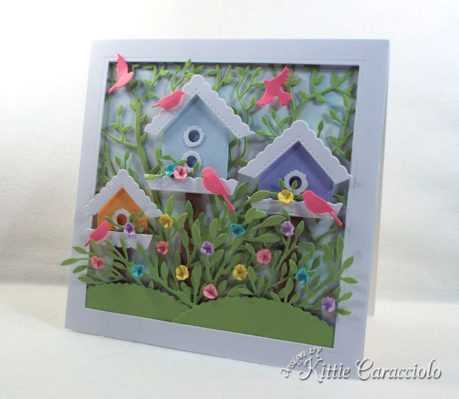 Die cut bird houses.