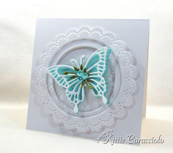 Die Cut Butterfly Wings with Flowers