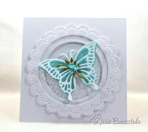 Die cut butterfly wings with flowers are so pretty.