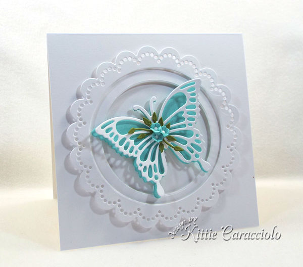 Die Cut Butterfly and Flowers