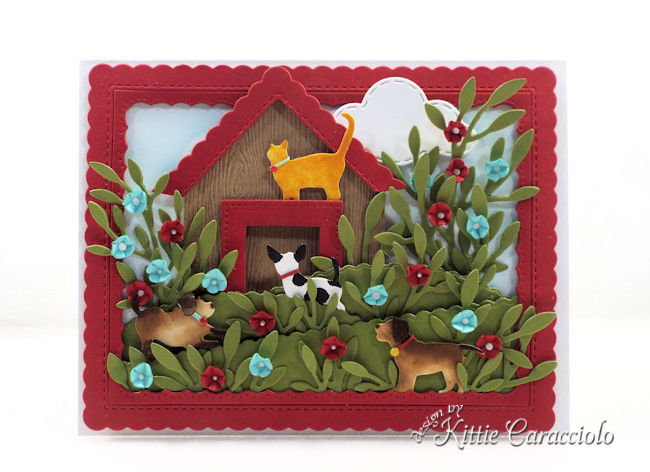 Die cut dogs and cats.