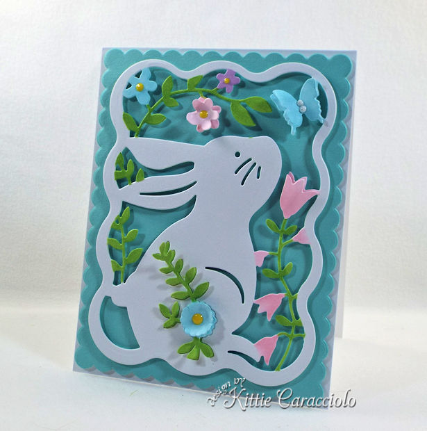 Die cut easter bunny card.