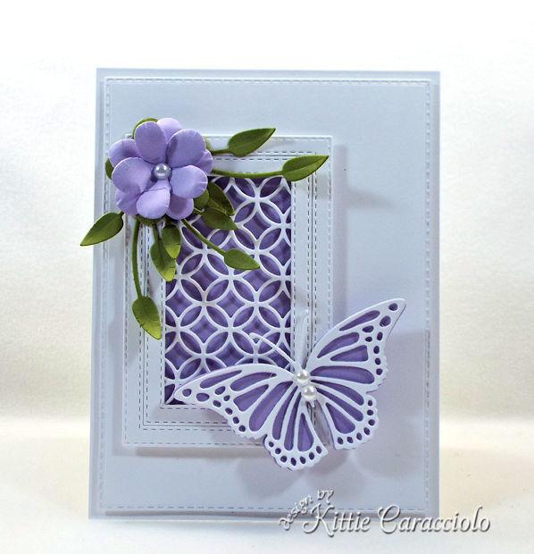 Die cut flower and butterfly makes a pretty card.