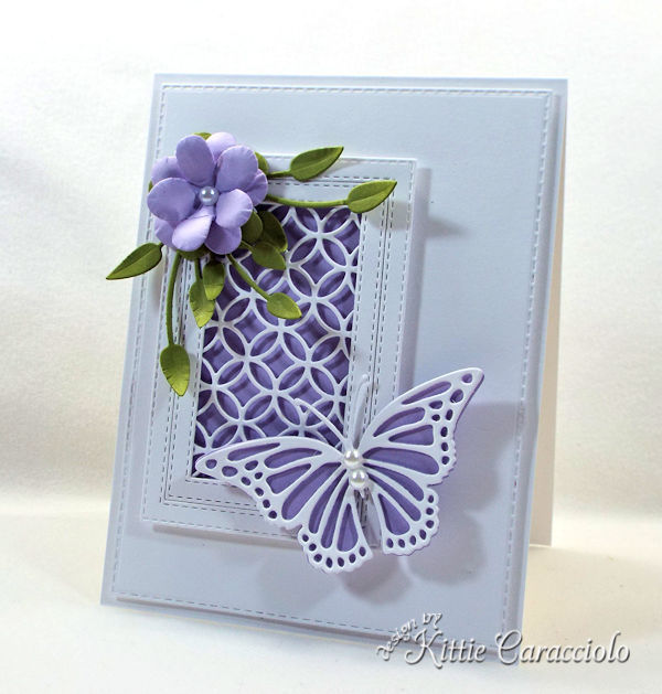 Die cut flower and butterfly makes such a pretty card.