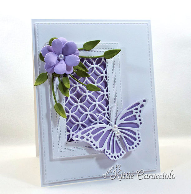 Die cut flower and butterfly.