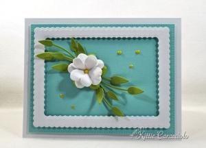 Clean and Simple Die Cut Paper Flower