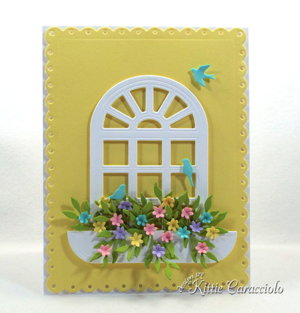 Die cut window scenes with flowers are so fun to make.