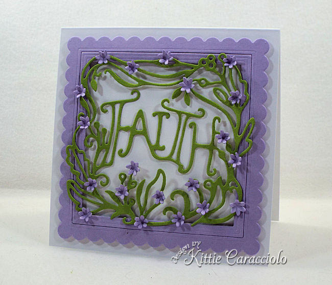 Die cut words for card making and paper crafting is fun and easy.