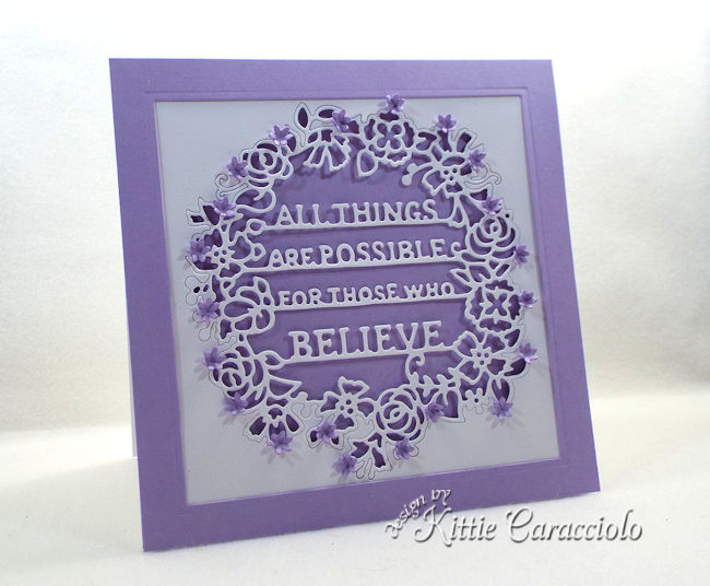 Die cut words for card making and paper crafting is fun.
