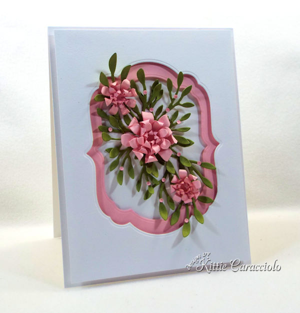 Framed paper flowers makes such a lovely card.