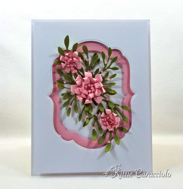 Framed paper flowers makes such a pretty card.