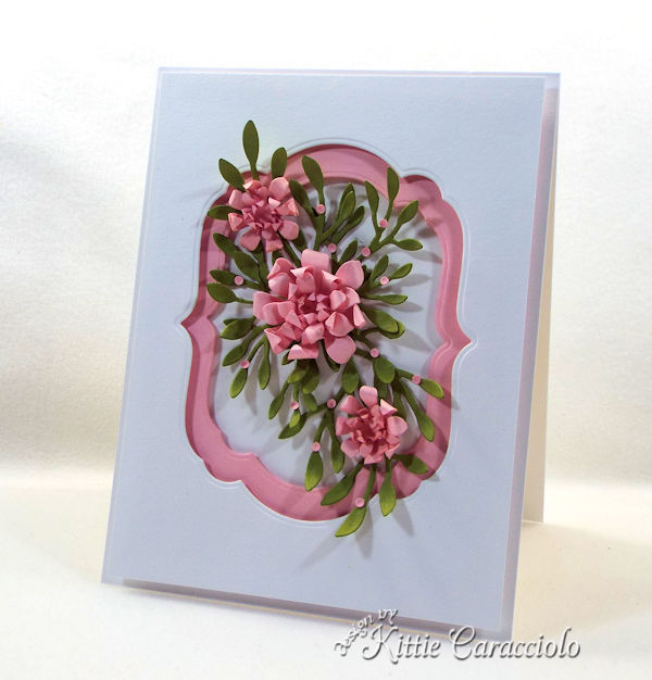 Framed paper flowers makes such an elegant card.