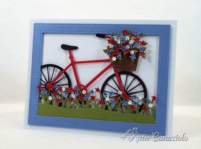 A bike die cut is so fun to use on a masculine card front.