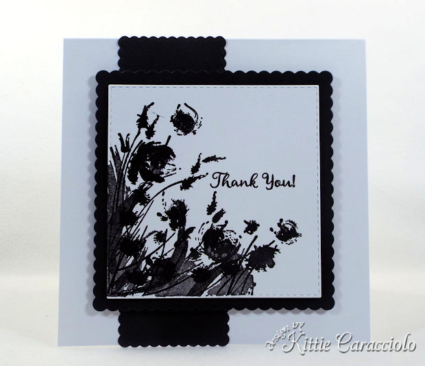 Silhouette flowers create such a pretty card front.
