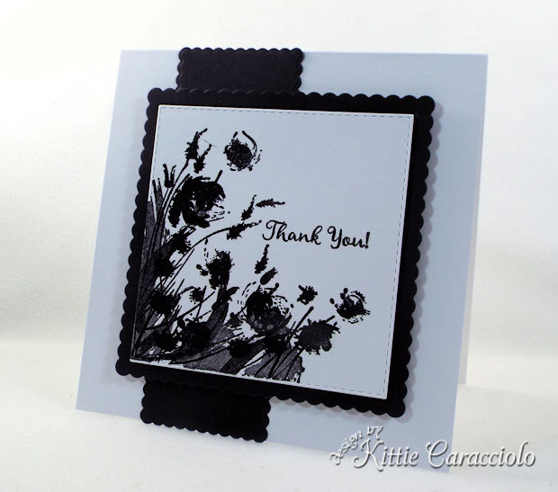 Silhouette flowers create such an elegant card front.