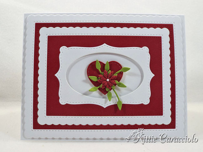 Use a die cut heart for a Valentine card.