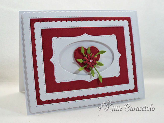 Use a die cut heart for an anniversary card.
