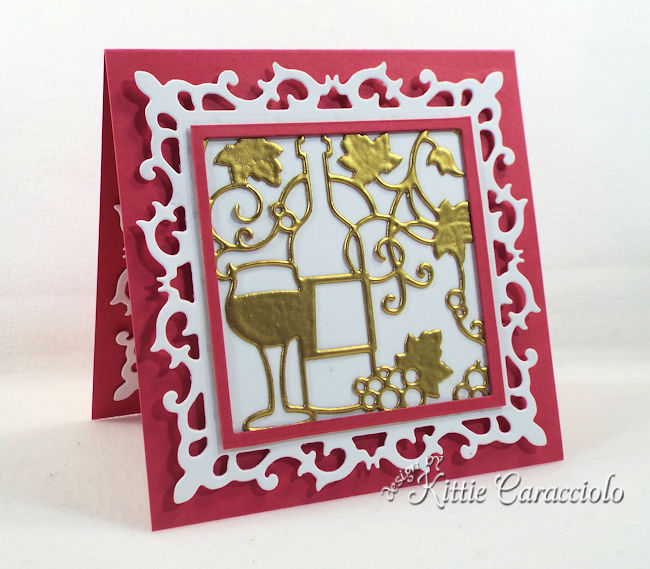 Wine die cuts are perfect to make gift cards to accompany a gift of wine.