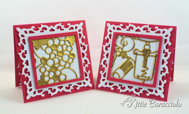 Wine die cuts are perfect to use for cards and gift cards.
