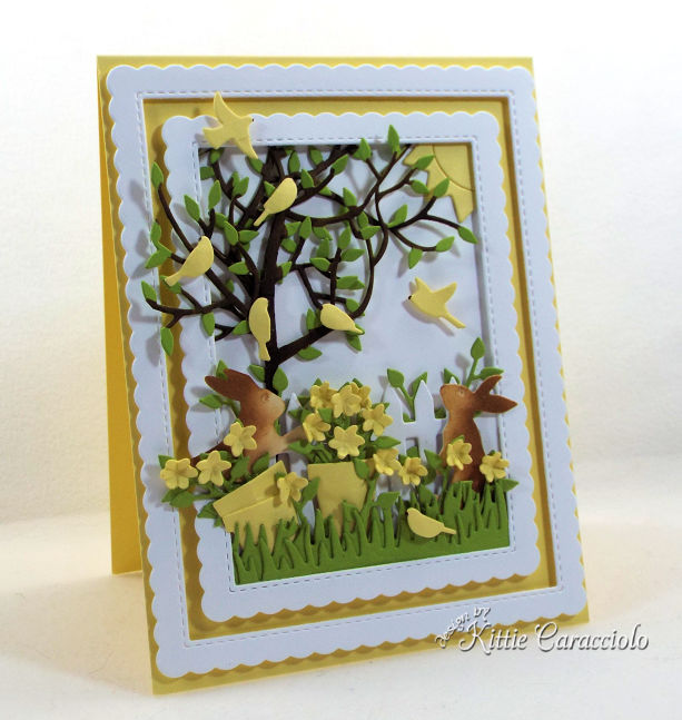 Come see how I make beautiful scenes with die cut flowers and bunnies to create wonderful cards for anyone who loves the outdoors.