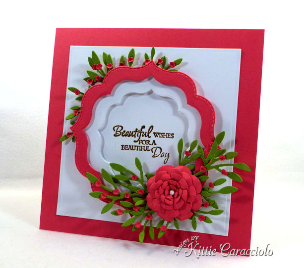 Come see how I make framed paper flowers and sentiment projects for all occasion cards.
