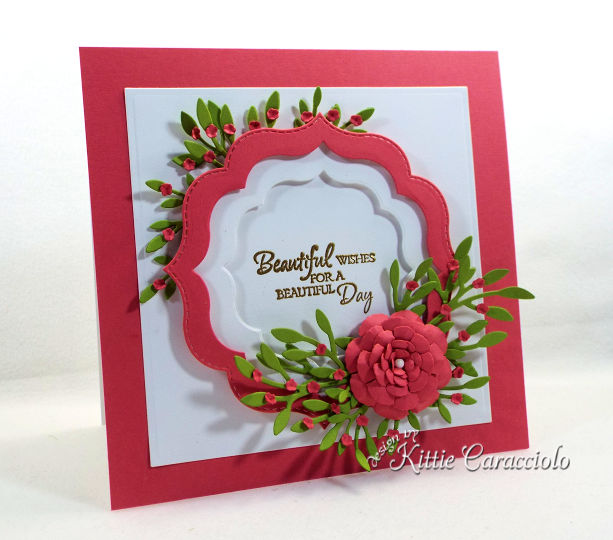 Come see how I make framed paper flowers and sentiment projects for thinking of you cards.