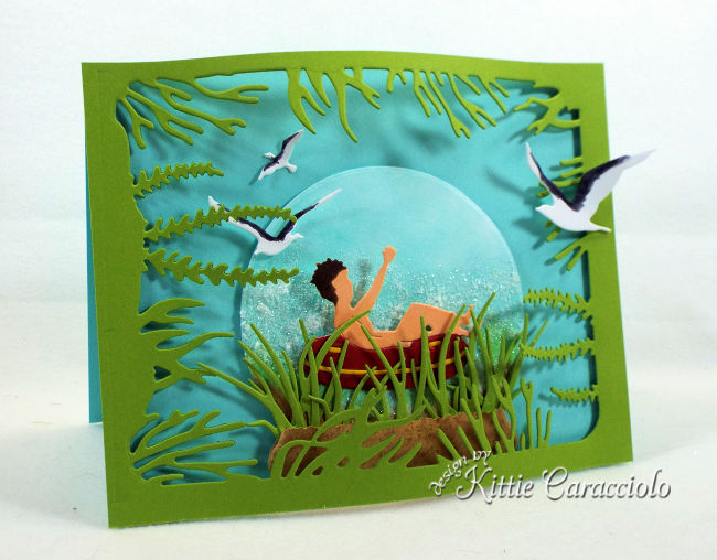 Making cards with beach scene die cuts is so much fun.