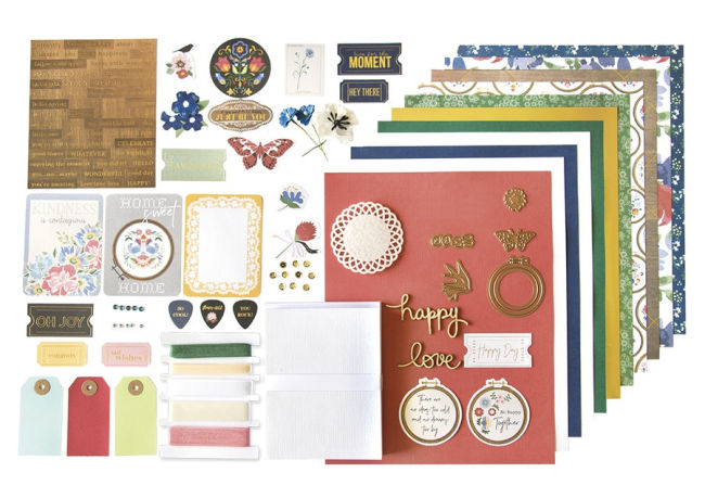 Spellbinders card kits provide cardstock, embellishments, dies, ribbon and lots of creative ideas.