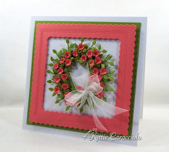 Come and see how I made this paper flower wreath card that is perfect for any occasion.