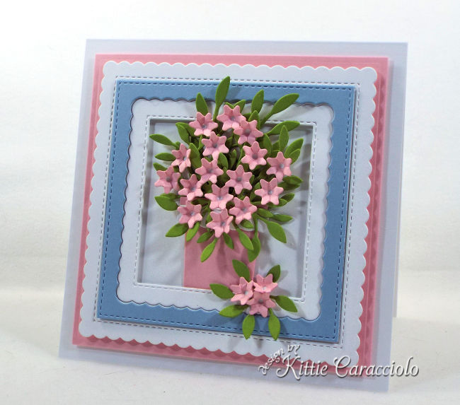 Check out how I made this pretty die cut flower arrangement perfect for a birthday card.