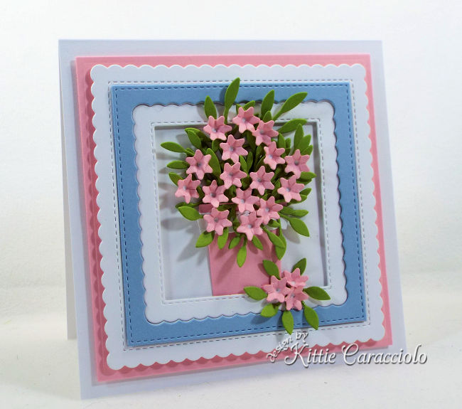 Check out how I made this pretty die cut flower arrangement perfect for any occasion.