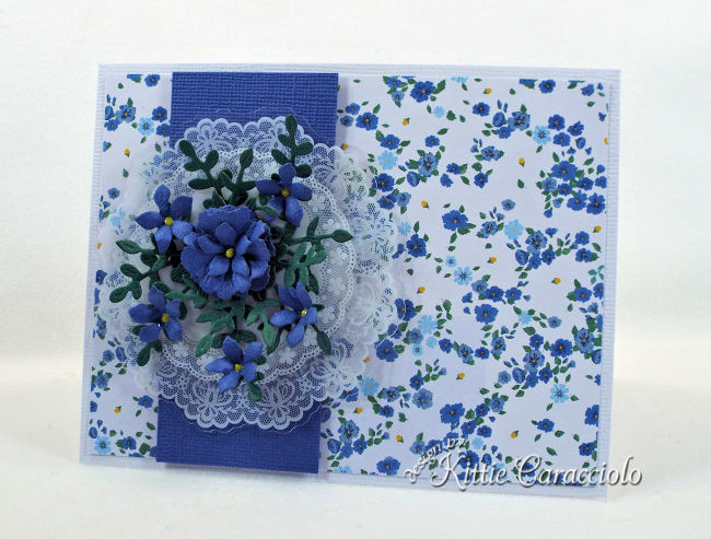 Come check out how I used the Spellbinders June Card Kit of the Month to create a floral spray card.