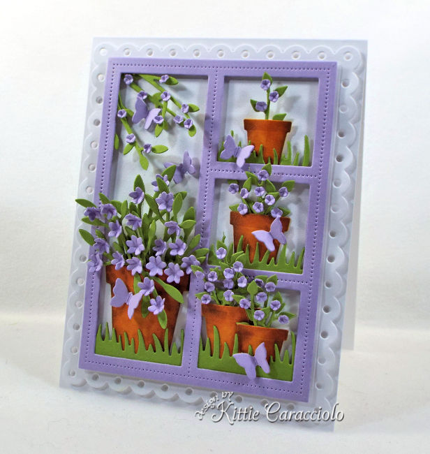 Window Card with Flower Pots