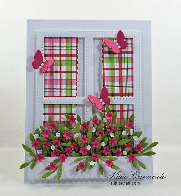 Come and see my lovely die cut window and window box full of flowers.
