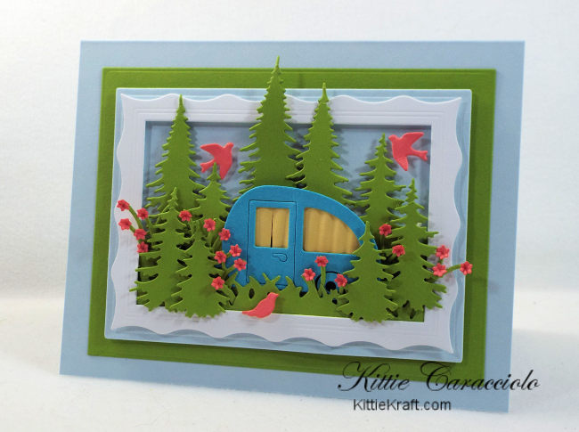 Come check out how I made this summery outdoor camping scene card.